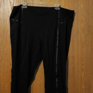 Maurice's leggings wigh faux leather piping